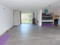 Salle yoga vue mur est